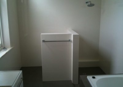 Free standing shower area