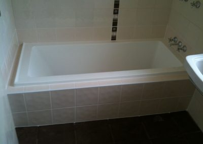 We loved designing this bathtub and layout of tiles for one of our clients