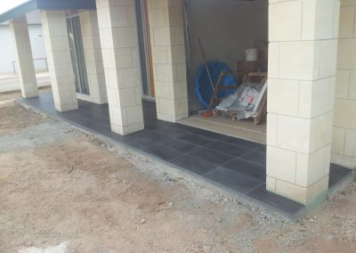 Tiling the outdoor area
