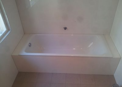 Bath tub installed