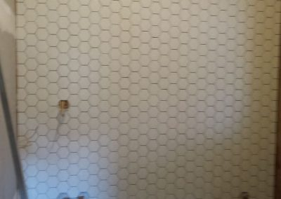 Feature Wall - Octagonal Tiles in the making