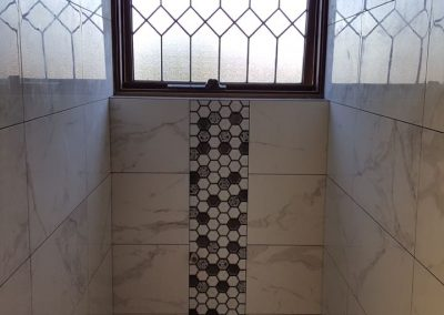 Feature Wall Tile In Toilet