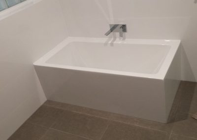All sanitary ware supplied by Highgrove and Tiles by Newton Ceramics - for a client in Highbury