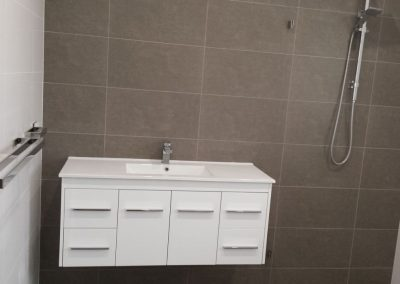 All sanitaryware supplied by Highgrove and Tiles by Newton Ceramics - for a client in Highbury