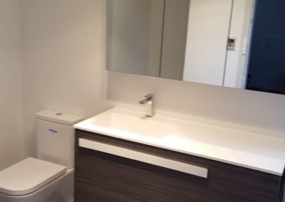 Floating Vanity with small Plinth for support in Kingswood