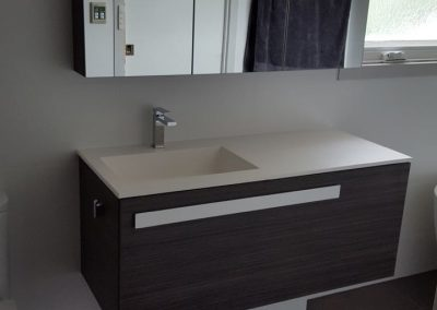 A stylish vanity designed for our client in Kingswood