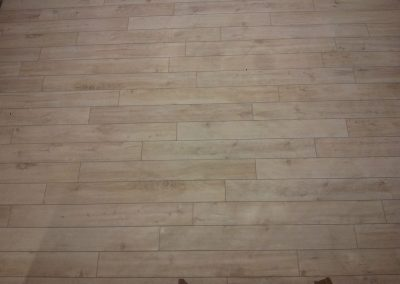 Main Floor Tiling Using Woodplank Tiles