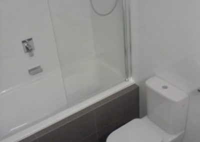 Swivel Showerscreen and Wall Faced Toilet in Myrtle Bank