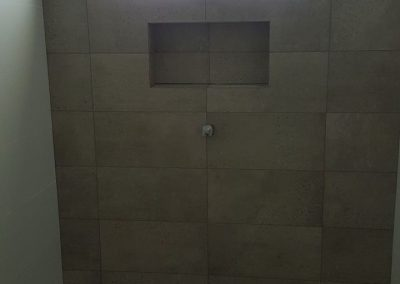 Centreing Window over Niche and matching wall to floor tiling in Valley View